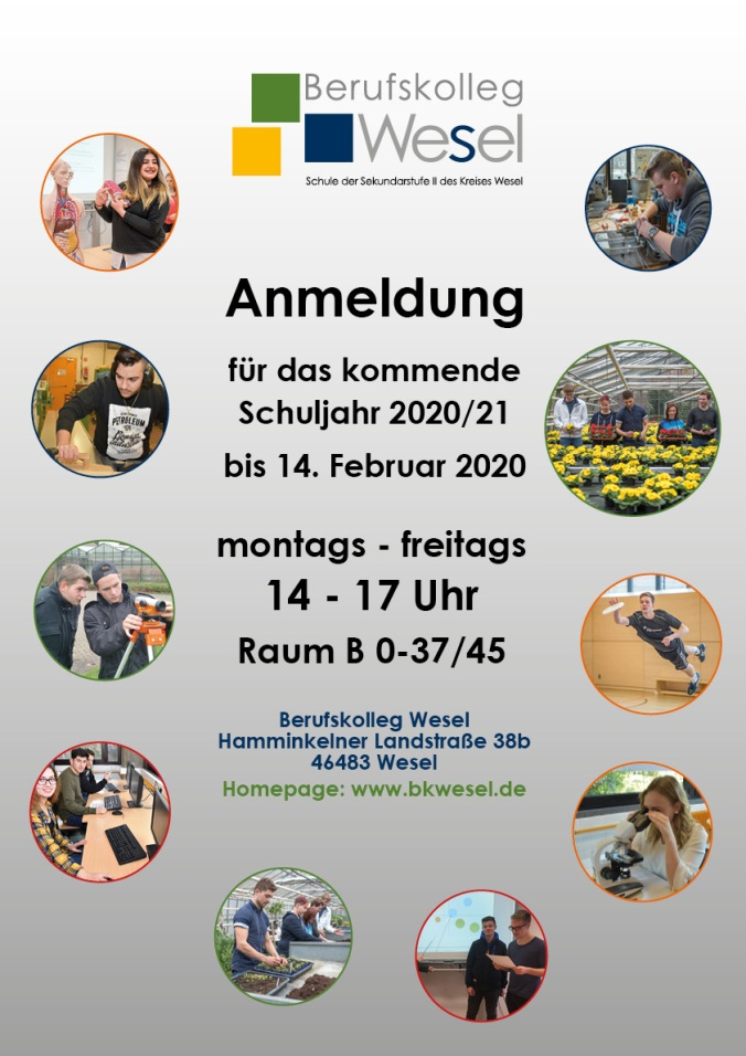 Plakat Anmeldung 2020